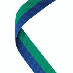 Medal Ribbon Green/Blue - 30 X 0.875In