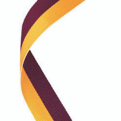 Medal Ribbon Maroon/Gold - 30 X 0.875In