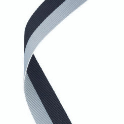 Medal Ribbon Black/Grey - 30 X 0.875In