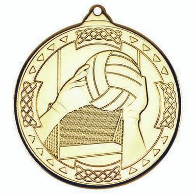 Gaelic Football Celtic Medal - Gold 2In