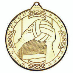 Gaelic Football Celtic Medal - Gold 2In