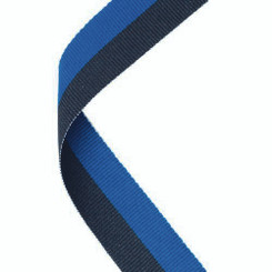 Medal Ribbon Royal Blue/Black - 30 X 0.875In