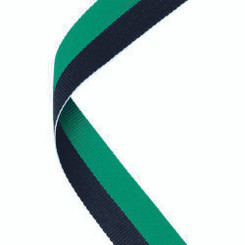 Medal Ribbon Green/Black - 30 X 0.875In