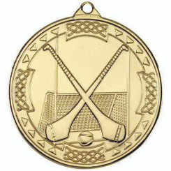 Hurling Celtic Medal - Gold 2In