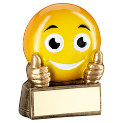 Brz/Yellow 'Thumbs Up Emoji' Figure Trophy - 2.75In