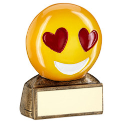 Brz/Yellow/Red 'Heart Eyes Emoji' Figure Trophy - 2.75In