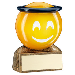Brz/Yellow/Blue 'Halo Emoji' Figure Trophy - 2.75In