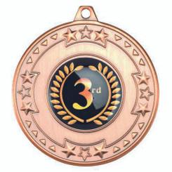 Tri Star Medal (1In Centre) - Bronze 2In