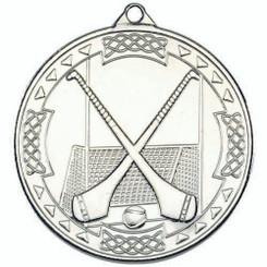 Hurling Celtic Medal - Silver 2In