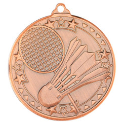 Badminton 'Tri Star' Medal - Bronze - 2In