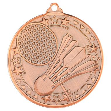 Badminton 'Tri Star' Medal - Bronze - 2In