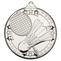 Badminton 'Tri Star' Medal - Silver - 2In