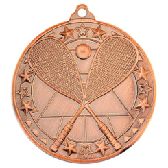Squash 'Tri Star' Medal - Bronze - 2In