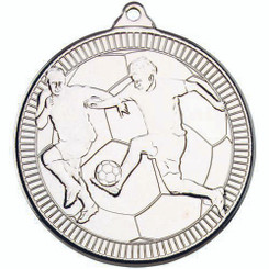 Football 'Multi Line' Medal - Silver 2In