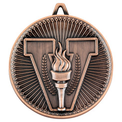 Victory Torch Deluxe Medal - Bronze 2.35In