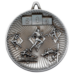 Athletics Deluxe Medal - Antique Silver 2.35In