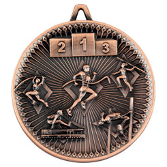Athletics Deluxe Medal - Bronze 2.35In