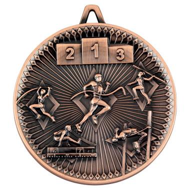 Athletics Deluxe Medal - Bronze 2.35In