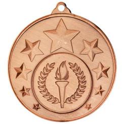 Multi Star Medal (1In Centre) - Bronze 2In