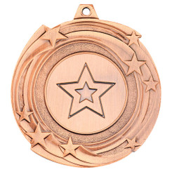 Star Cyclone Medal (1In Centre) - Bronze - 2In