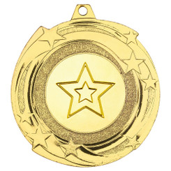 Star Cyclone Medal (1In Centre) - Gold - 2In