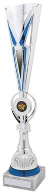 """Blue/Silver Sculpture Award - TW18-044-765D - 34cm (13 1/4"""")"""