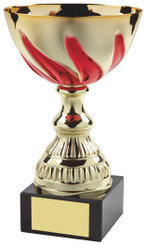 "Gold & Red Swirl Trophy Cup - TW18-051-552D - 17cm (6 3/4"")"