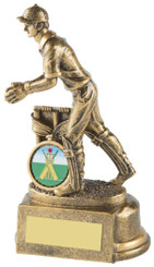 "Gold Wicket Keeper Cricket Trophy - TW18-067-RS314 - 15cm (6"")"