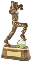 "Gold Cricket Bowler Award - TW18-067-RS710 - 20cm (8"")"