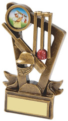 "Gold Resin Cricket Stumps award - TW18-068-RS362 - 9cm (3 3/4"")"