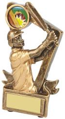 "Gold Resin Cricket Batsman Trophy - TW18-068-RS616 - 9cm (3 3/4"")"