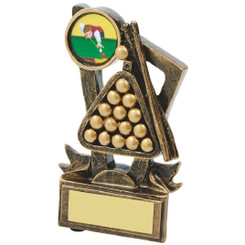 "Gold Resin Award for Pool or Snooker - 11cm (4 1/4"")"