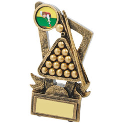 "Gold Resin Award for Pool or Snooker - 13cm (5"")"