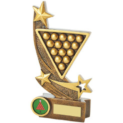 "Gold Resin Snooker Award - 18cm (7"")"