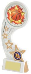 """White Resin Basketball Award - TW18-082-585ZDP - 15.5cm (6 1/4"""")"""