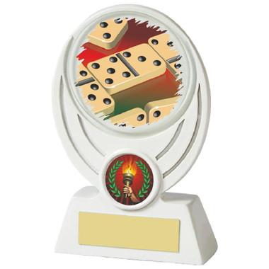 """White Dominos Resin Award - 13cm (5"""")"""