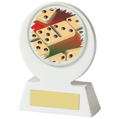 White Dominos Resin Award - 11cm (4 1/4)
