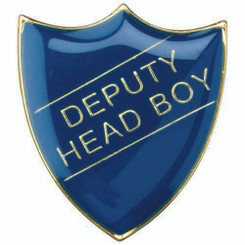 School Shield Badge (Deputy Head Boy) - Blue  1.25In