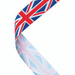 Medal Ribbon Union Jack - 30 X 0.875In