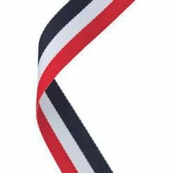 Medal Ribbon Red/White/Black - 30 X 0.875In