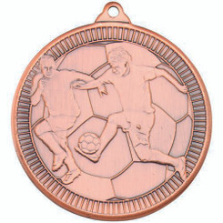 Football 'Multi Line' Medal - Bronze 2In