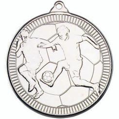 Football 'Multi Line' Medal - Silver 2In