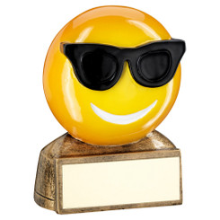 Brz/Yellow/Black 'Sunglasses Emoji' Figure Trophy - 2.75In