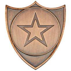 Shield Badge (1In Centre) - Silver - 1.5In