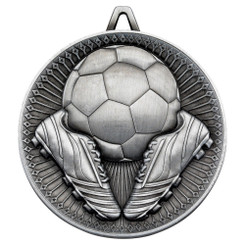 Football Deluxe Medal - Antique Silver 2.35In