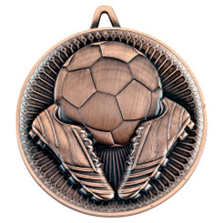 Football Deluxe Medal - Bronze 2.35In