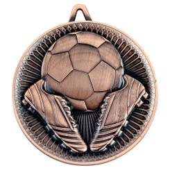 Football Deluxe Medal - Bronze 2.35In