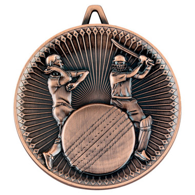 Cricket Deluxe Medal - Bronze 2.35In