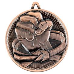 Martial Arts Deluxe Medal - Bronze 2.35In