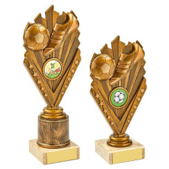 TW20-020-1024BG / Antique Gold Boot/Ball Holder Trophy